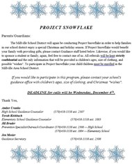 Project Snowflake Information