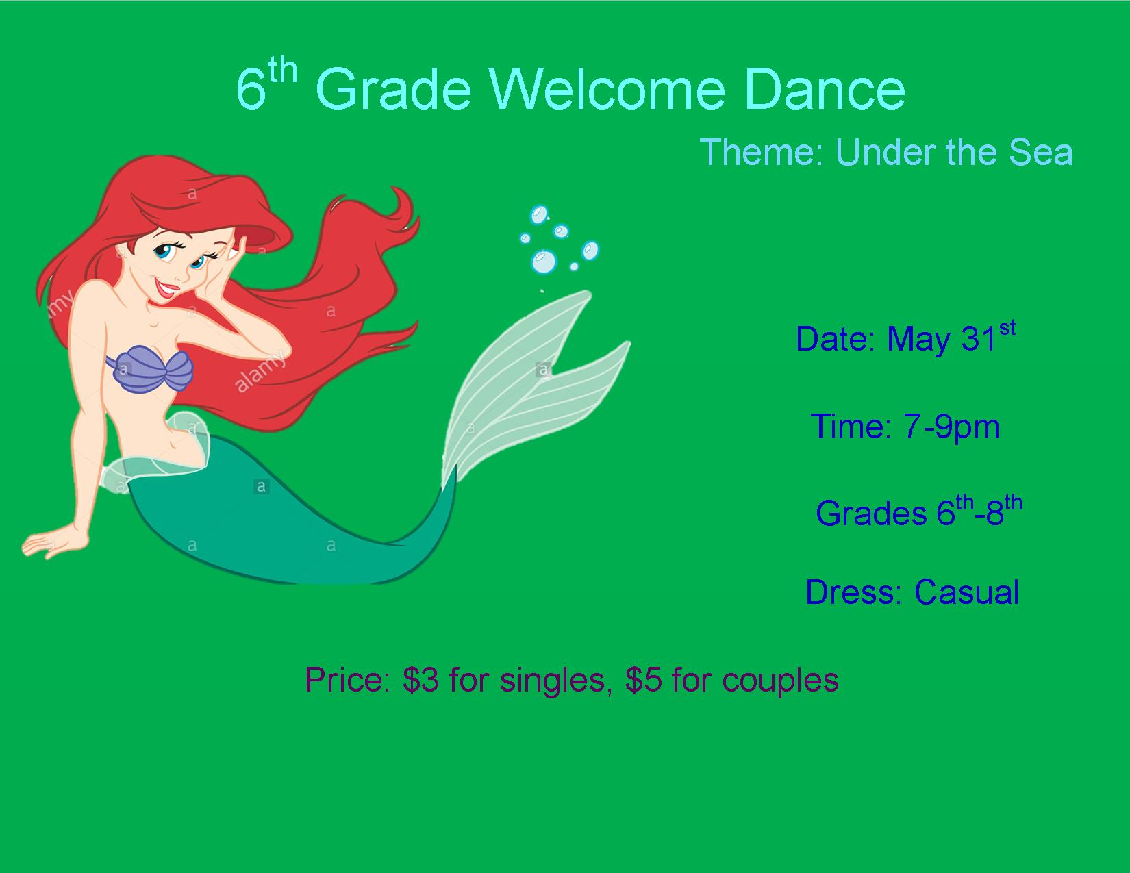 6th grade welcome dance
